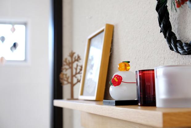 CRAFTHOUSE ガラス製 鏡餅・リビング・テレビ上・壁に付けられる家具①