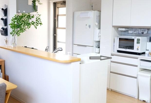 キッチン全体・パモウナ食器棚④