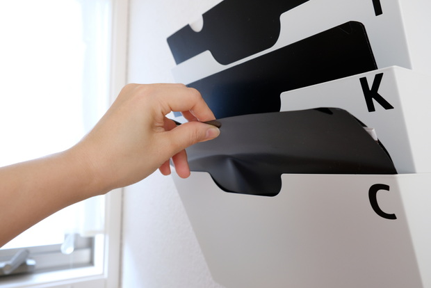 IKEA・KVISSLE クヴィッスレ ウォール 新聞ラック, ホワイト・パソコンスペース④
