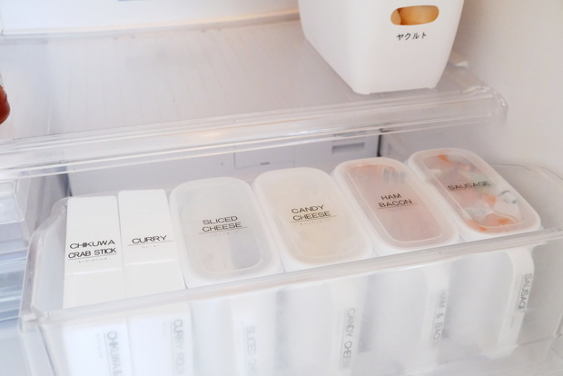 セリア・はがきケース・冷蔵庫・チルド室②
