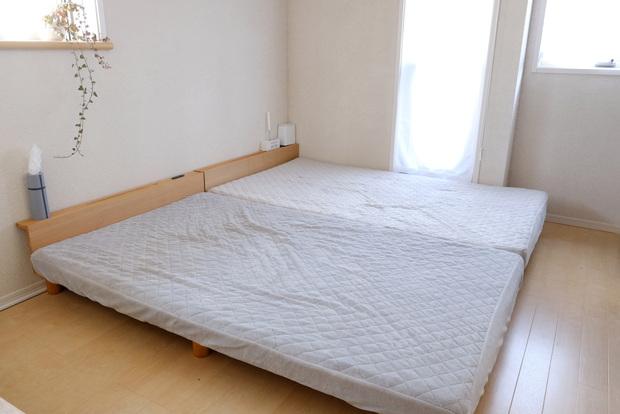 マイクロファイバー・パッド一体型ボックスシーツ・寝室・ベッド①