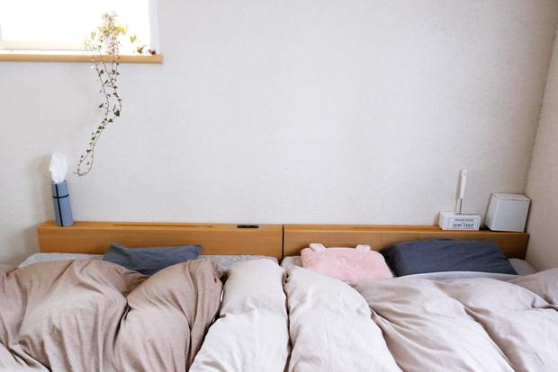 マイクロファイバー・パッド一体型ボックスシーツ・寝室全体②