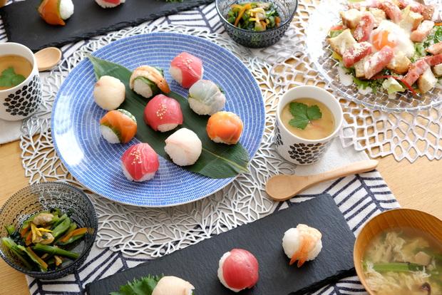 ARABIA・24h・アベック・2020年3月ひな祭り・手まり寿司・シーザーサラダ・プケッティ・茶碗蒸し①