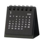 無印・デスクトップミニカレンダー 黒・卓上約60×60mm・12月~12月①