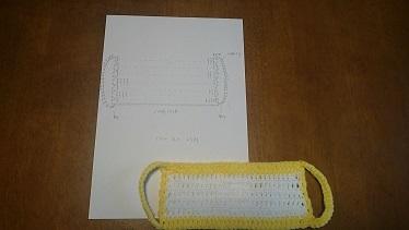 黄色マスク編み図