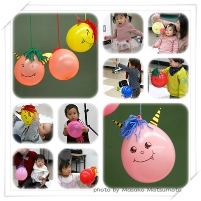 節分赤ちゃん鬼広島市習い事親子教室0歳1歳20
