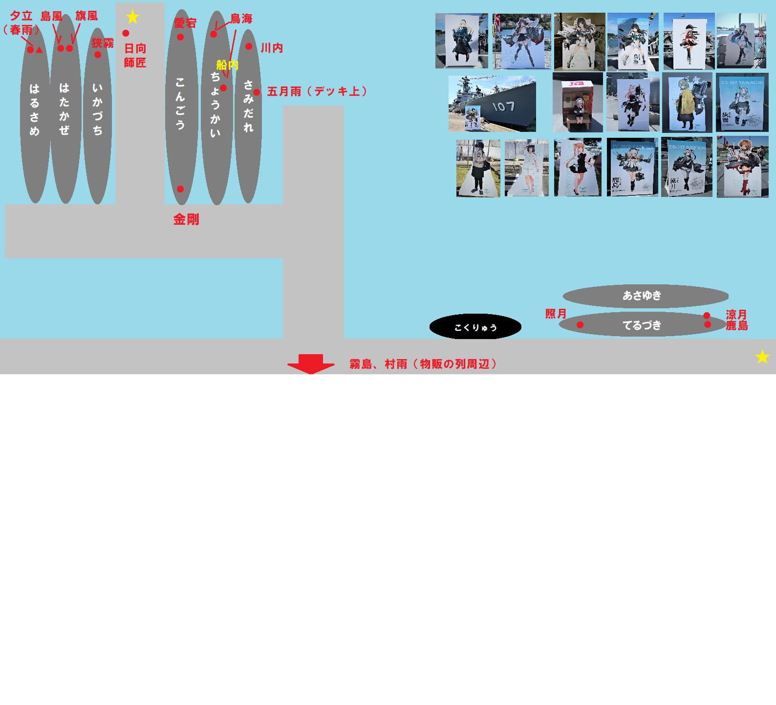 横須賀基地艦娘パネル配置図写真付き改1