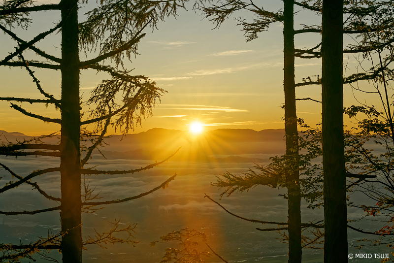 絶景探しの旅 - 1086 雲海の日の出 (甘利山/山梨県 韮崎市)