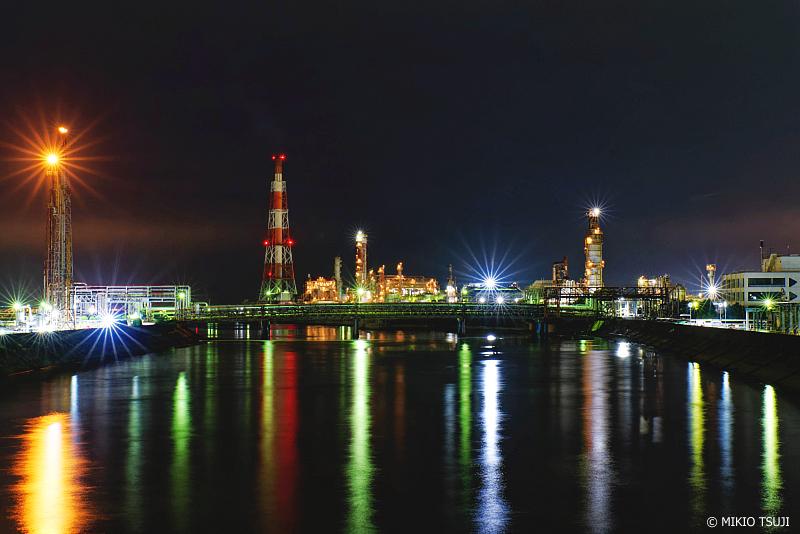 絶景探しの旅 - 1108 大正橋からの四日市コンビナート夜景 (三重県 四日市市)