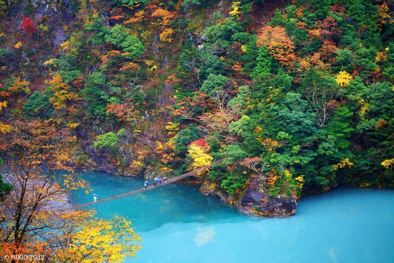絶景探しの旅 - 絶景写真 No.1169 寸又峡 夢の吊り橋 (静岡県 川根本町)
