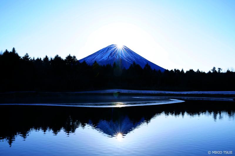 絶景探しの旅 - 絶景写真 No.1182 Wダイヤモンド富士 (山梨県 富士河口湖町)