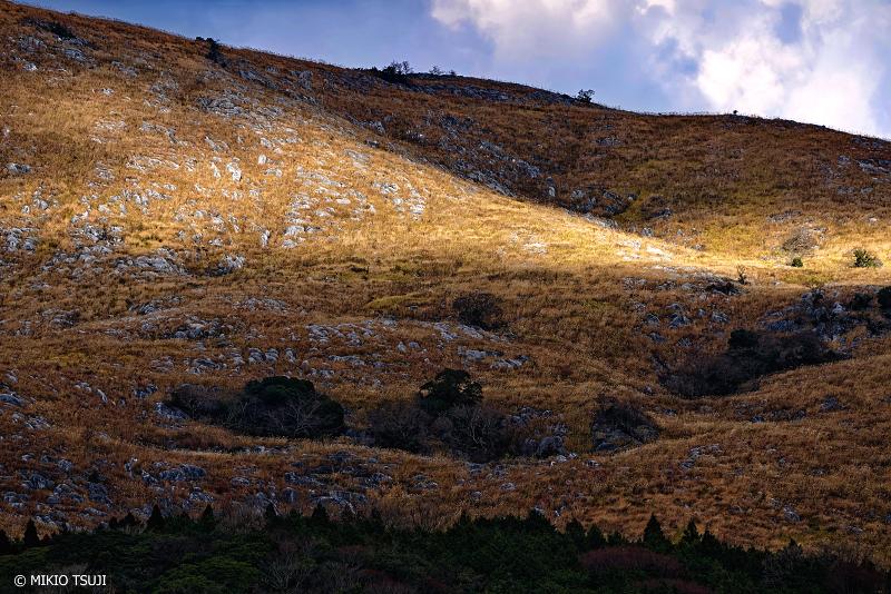絶景探しの旅 - 絶景写真 1187 冬の光差し込むカルスト台地 (平尾台/北九州市 小倉南区)