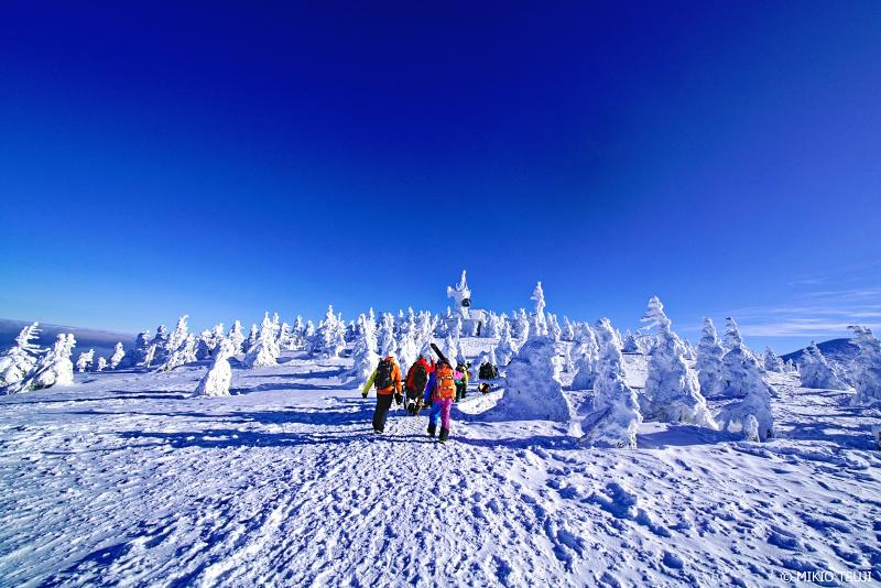 絶景探しの旅 - 絶景Photo No.1210 樹氷の世界に降り立つ (八甲田山 青森市)